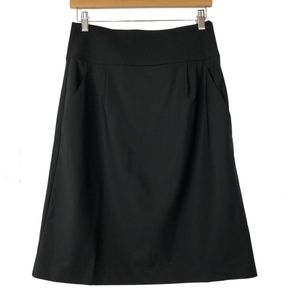 Theory 8 A-Line Skirt Fine Wool Stretch